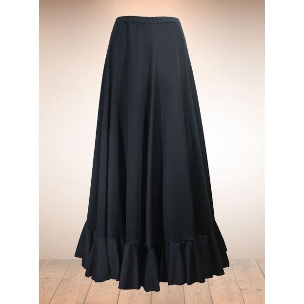 Jupe Flamenco Noire Godets 1 Volant