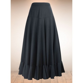 Flamenco Skirt Canesu Black 1 Ruffle