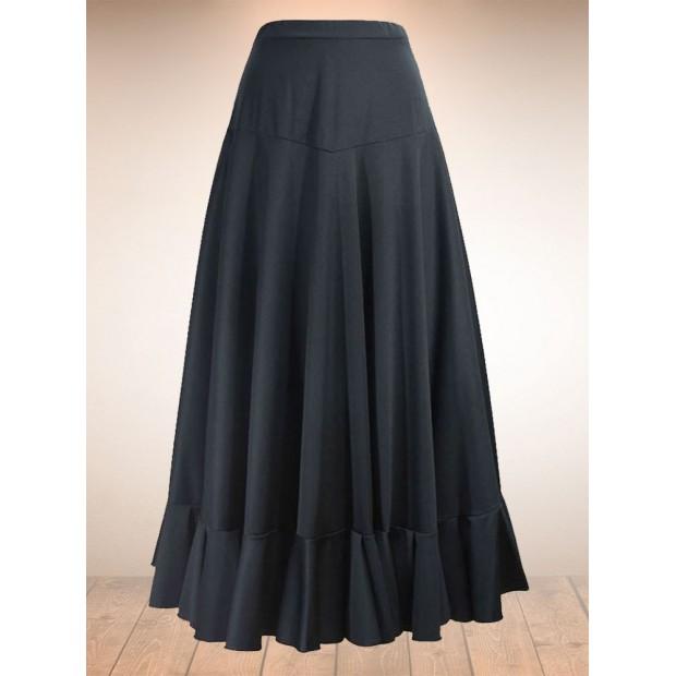 Flamenco Skirt Canesu Black 1 Ruffle