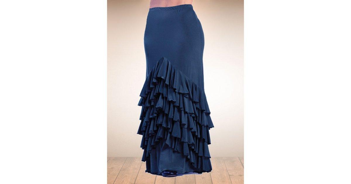 Blue Vega Flamenco Skirt