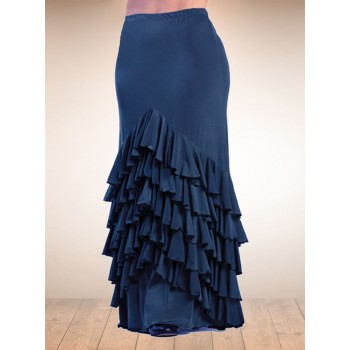 Blue Vega Flamenco Skirt