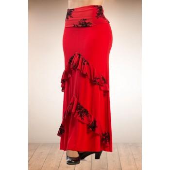 Falda flamenco Candil Roja