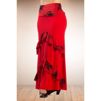 Flamenco skirt red Candil