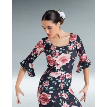 Top Flamenco Estampado Volantes