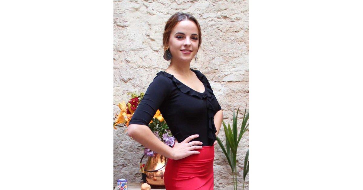 Top Flamenco Mariquilla Noir