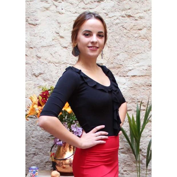 Top Flamenco Mariquilla Negro