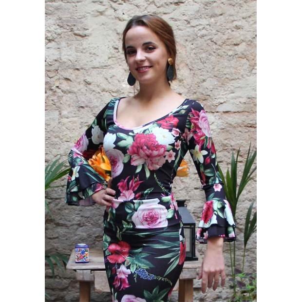 Top flamenco estampado flores