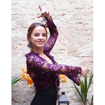 Cardigan Flamenco Couleur Vin Flamenco