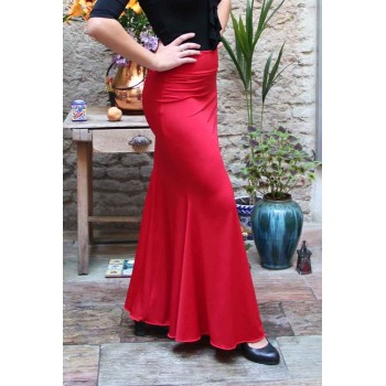Falda Flamenco Roja Godet