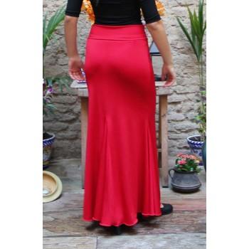 Jupe Flamenco Rouge Godet