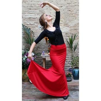 Red Flamenco Skirt Godet