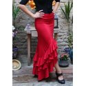 Red Flamenco Skirt 3 Ruffles