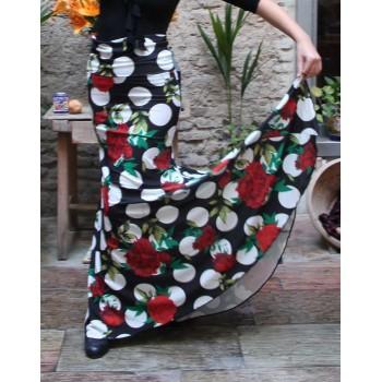 Godet Print Flamenco Skirt