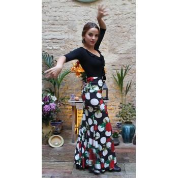 Falda Flamenco Estampada Godet