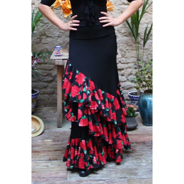 Black Onil Flamenco Skirt