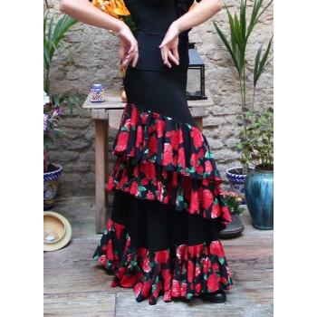 Black Onil Flamenco Skirt