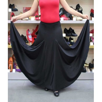 Jupe flamenco noire avec godets