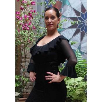 Manches flamenco noires en tulle