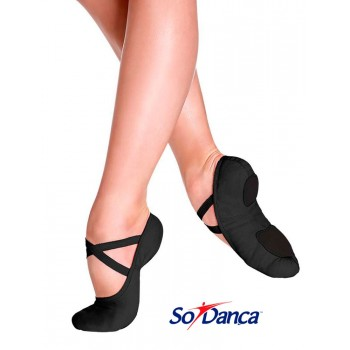 Black Elastic Ballet Shoe