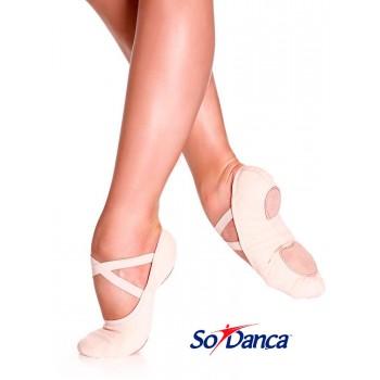 Chaussure de danse élastique rose
