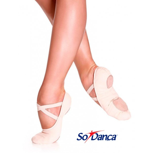 Zapatilla de Ballet Elástica Rosa