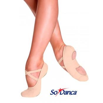 Chaussure de ballet élastique nude