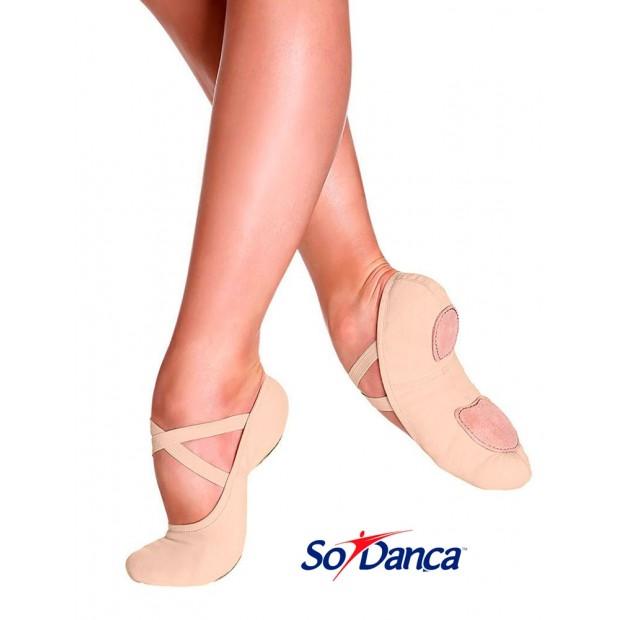 Zapatilla de Ballet Elástica Nude