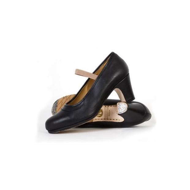 Zapato profesional piel negro con elástico