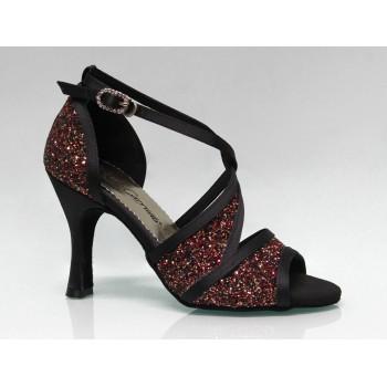 Black and Glitter Combined Ballroom Dance Shoe