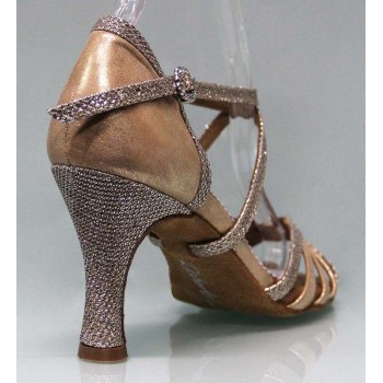 Gold and Fantasy Combined Ballroom Dance Shoe