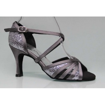 Gray and Fantasy Combined Ballroom Dance Shoe