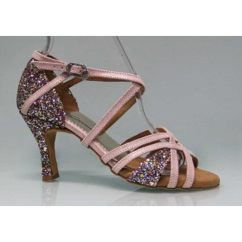 Ballroom Dance Shoe Combined Suede and Glitter