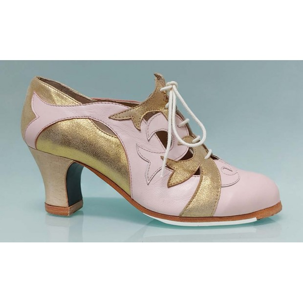 Zapato de Baile Flamenco Profesional con Cordones