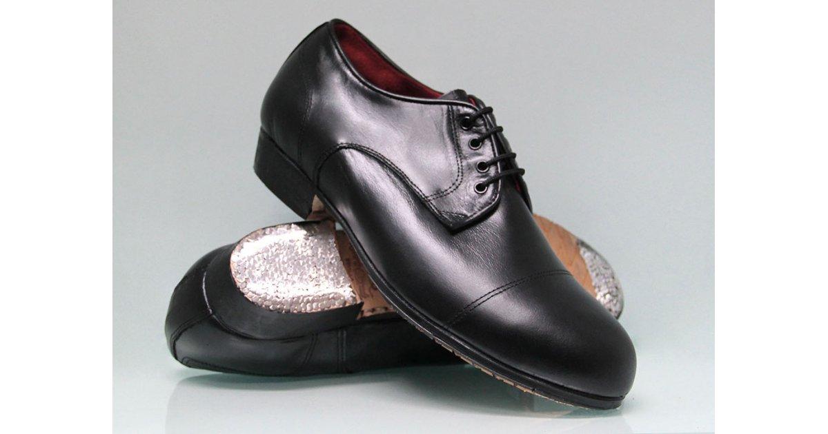 Zapato Flamenco Profesional negro Tacón Bajo