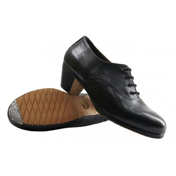 Black Leather Professional Flamenco Shoe