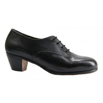 Zapato Flamenco Profesional Piel Negro liso