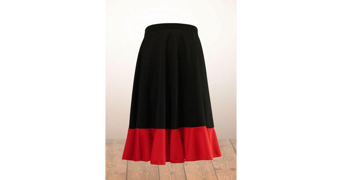 Falda Flamenco Niña Negra y Roja
