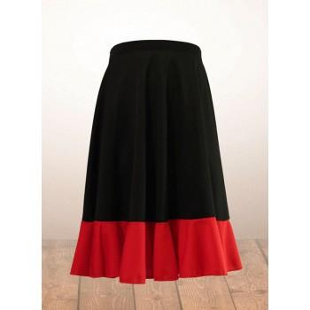 Black and Red Girl Flamenco Skirt
