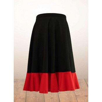 Jupe flamenco fille noire et rouge