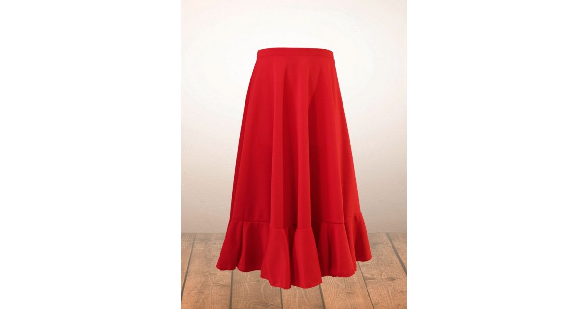Jupe flamenco fille rouge