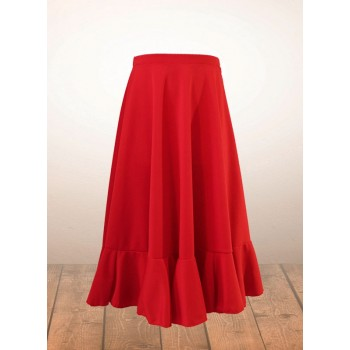 Red Girl Flamenco Skirt
