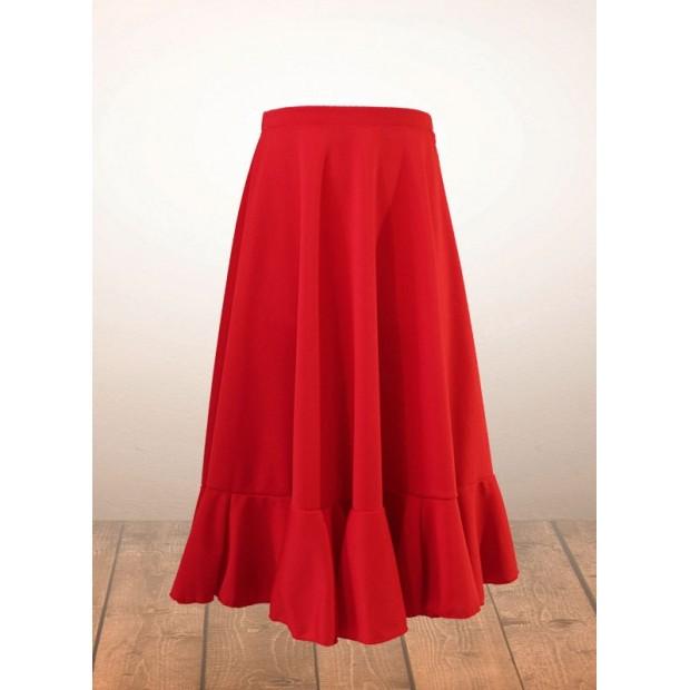 Falda Flamenco Niña Roja