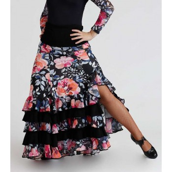 Flamenco Skirt Floral Print