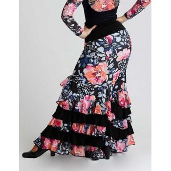 Flamenco Skirt Floral Print