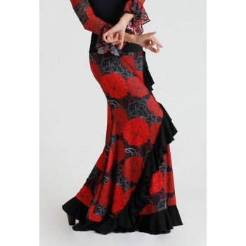 Falda Flamenco Entallada Claveles