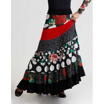 Multicolour Flamenco Yoke Skirt