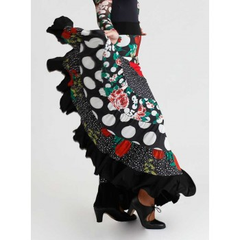 Multicolour Flamenco Yoke Skirt