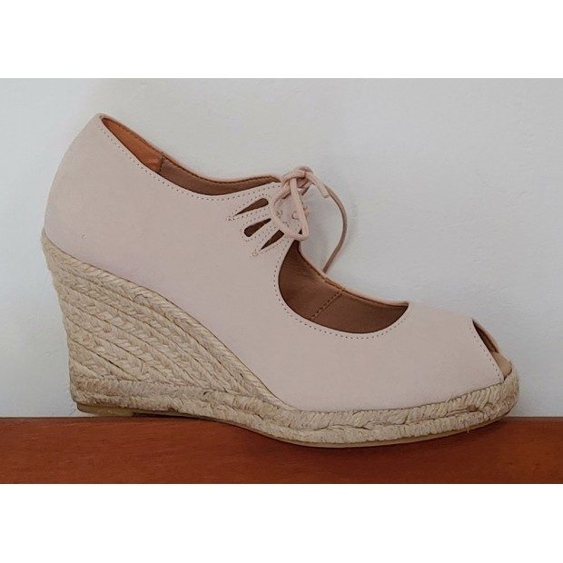 Esparto Beige Shoe With Laces