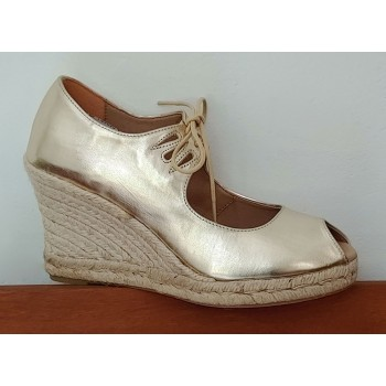 Esparto Gold Shoe With Laces