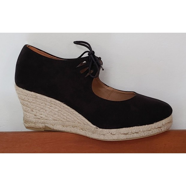Black Esparto Shoe Closed...